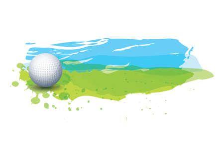golf ball in golf course Standard-Bild - 106670317