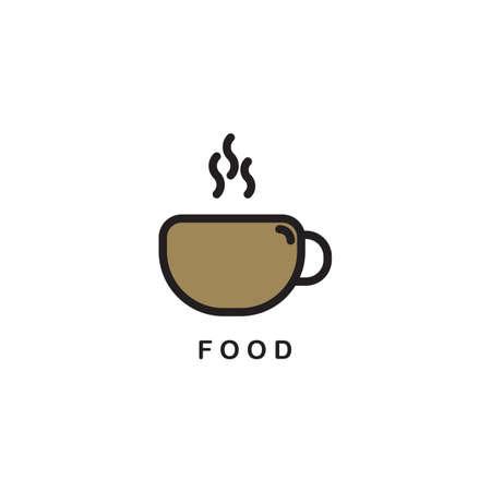 ホット コーヒー カップのアイコン。