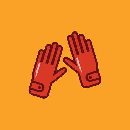 sport hand gloves Illusztráció