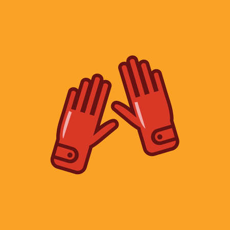 sport hand gloves Illustration