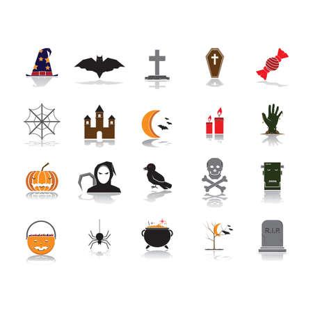 halloween themed vectors Иллюстрация