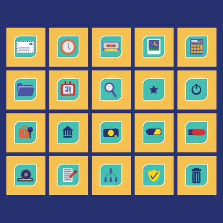 Set of computer icons Illusztráció
