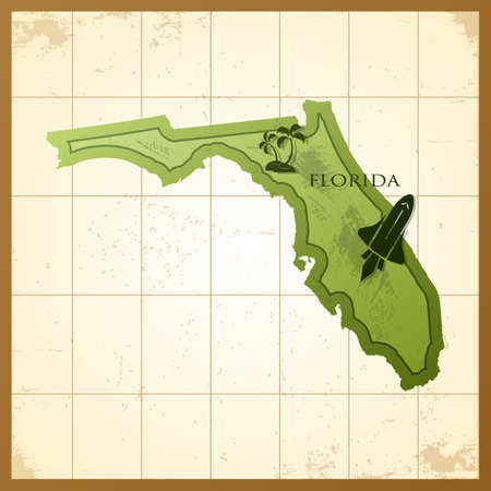 フロリダ州の地図 写真素材 - 81535930