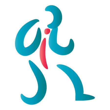 Abstract man icon Ilustrace
