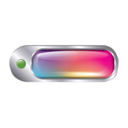 rectangle button: rainbow button