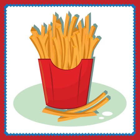 Franc?s fries Foto de archivo - 81420167