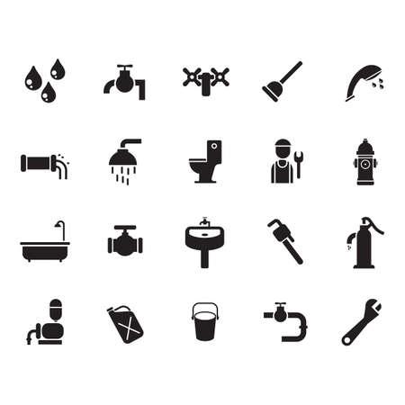 wasserbezogene Symbole eingestellt Vektorgrafik