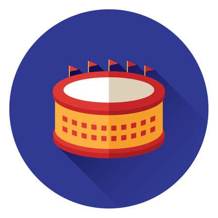 football stadium Illusztráció