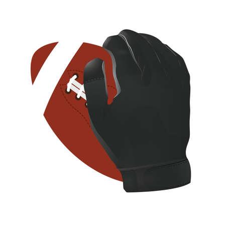 hand holding american football