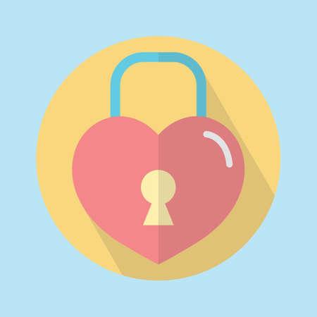 hartvormige hangslot Stock Illustratie
