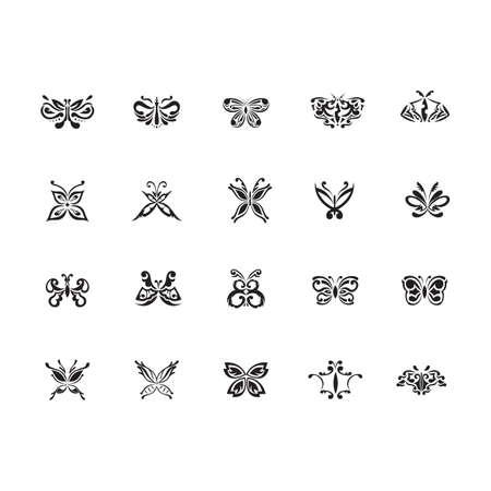 나비 문신 세트