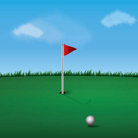 A golf pole illustration.