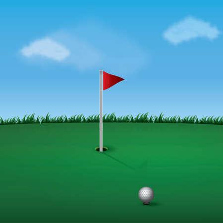 A golf pole illustration.