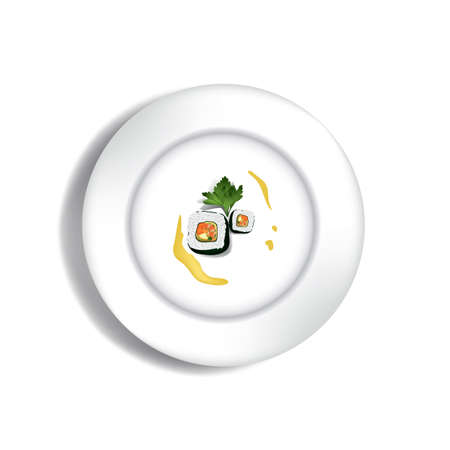 sushi rol Stock Illustratie