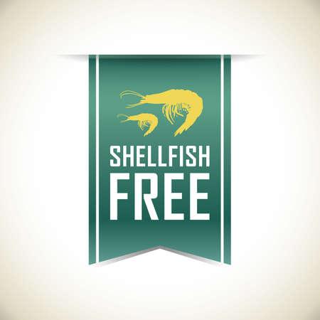 shellfish free banner Stock Illustratie