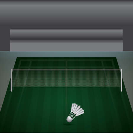 A badminton court illustration.
