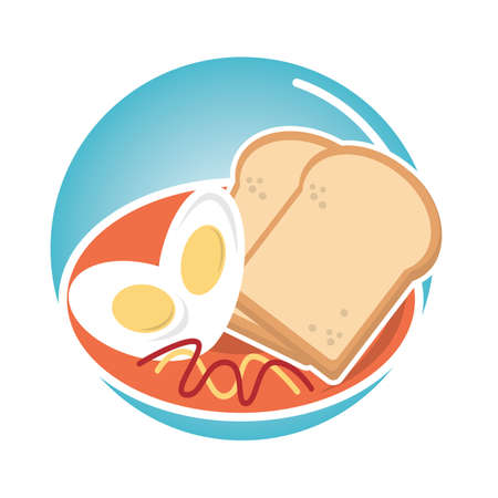 eggs and slices of bread