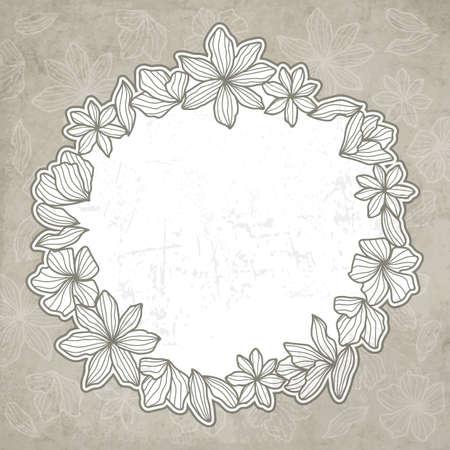 A floral design illustration.