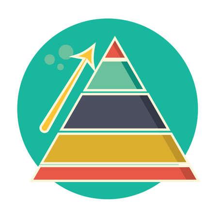 Upward arrow and pyramid