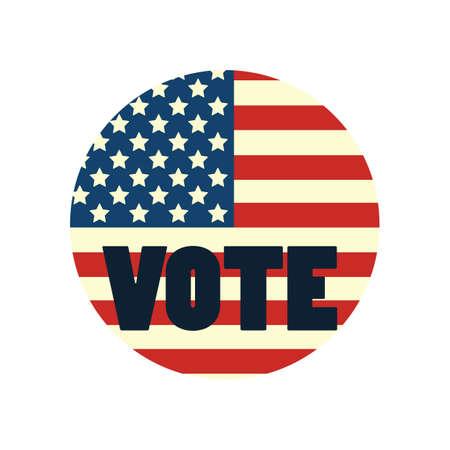 アメリカの国旗と投票します。