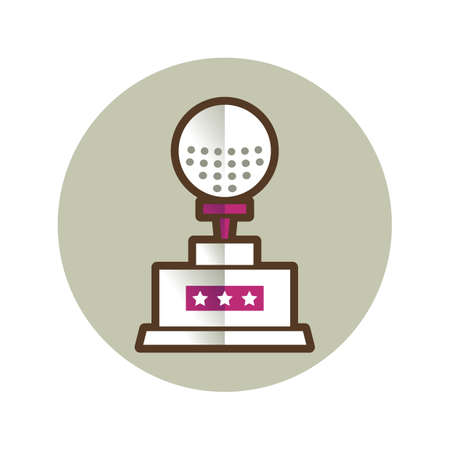 golf ball trophy Illustration