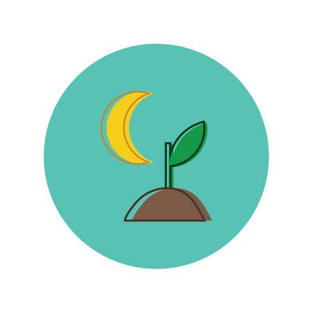 sapling with moon