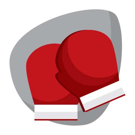 Une illustration de gants de boxe. Banque d'images - 81470303