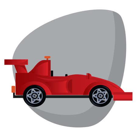 Uma ilustração do carro de corrida. Foto de archivo - 81470304