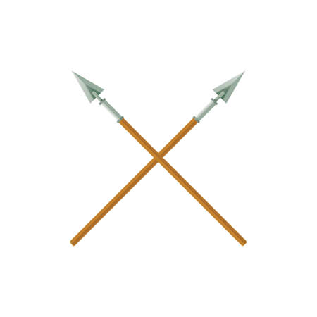 A two crossed spears illustration. Illusztráció