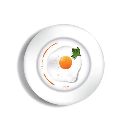 튀긴 계란 일러스트