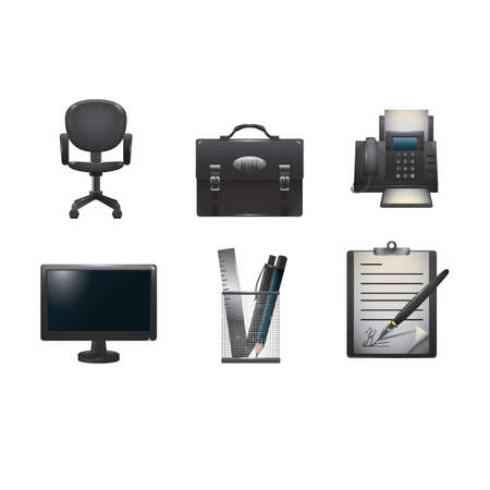 office icons collection Stock fotó - 81537203