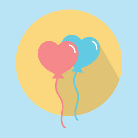 helium balloons Illustration