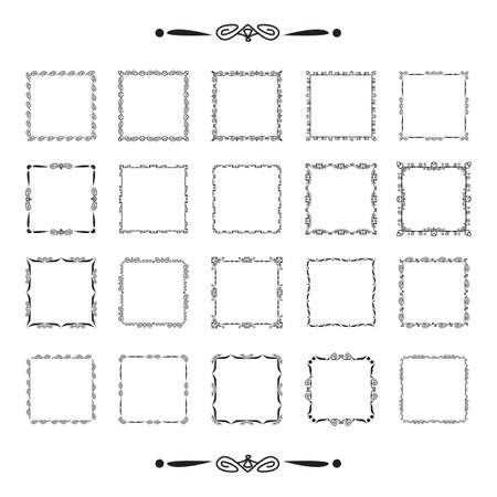 collection of frames Illustration