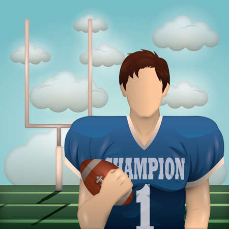 american football player Ilustrace