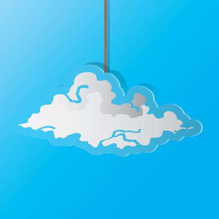 Una ilustración de la nube. Foto de archivo - 81470308