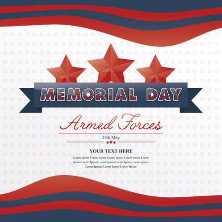 Día Conmemorativo Ilustración de vector