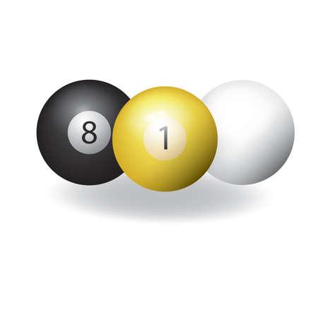 snooker balls Ilustração