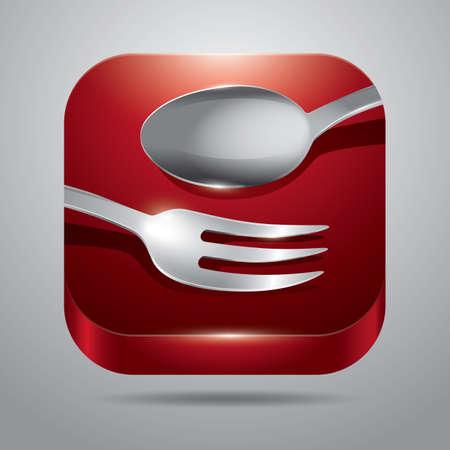 Fourchette et cuillère Banque d'images - 81485916