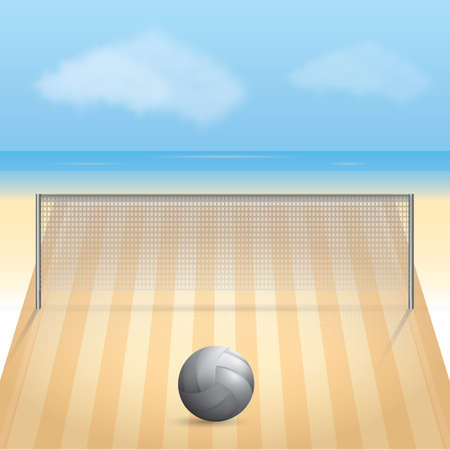 A volleyball court illustration.