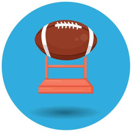 rugby ball trophy 向量圖像