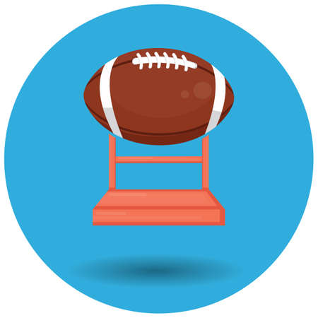 rugby ball trophy Illustration
