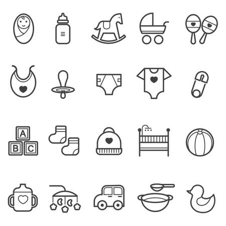 baby icon set