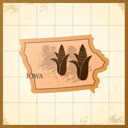 map of iowa state