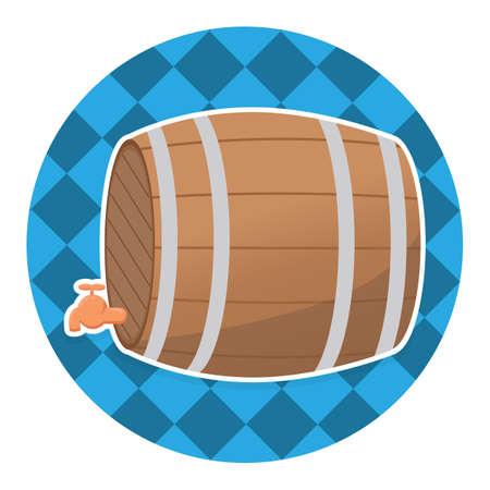 beer barrel with tap Illustration