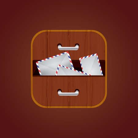 envelopes in drawer