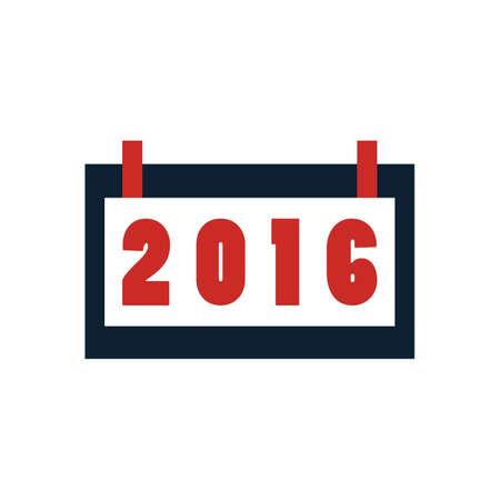 2016 バナー  イラスト・ベクター素材