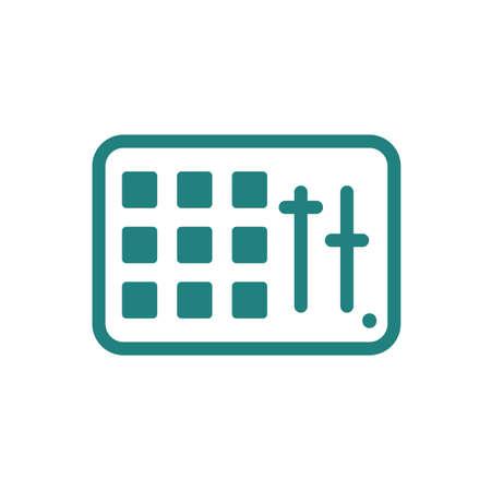 Midi pad controller icon