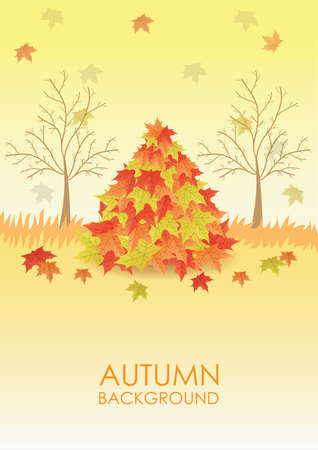 Herbst Hintergrund Standard-Bild - 81418869