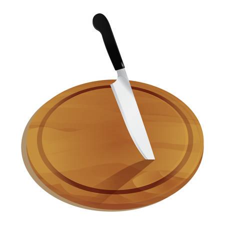 まな板の上のナイフ  イラスト・ベクター素材