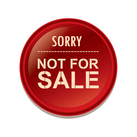 sorry not for sale label